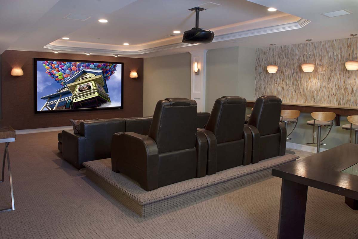 Small Basement Movie Room